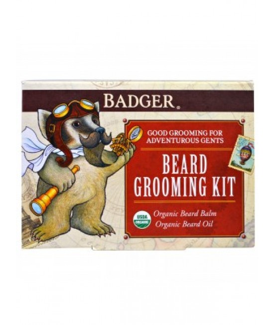 Badger Company, Beard Grooming Kit, 2 Piece Kit