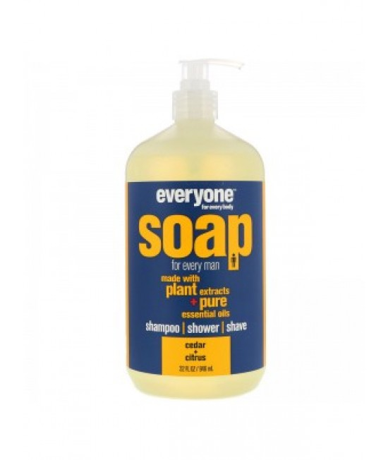 EO Products, Everyone Soap For Every Man, Cedar + Citrus, 32 Fl Oz (946 Ml)