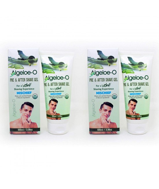 Aloevera Pre And After Shave Gel-Musk ,100 ml (3.38 Oz.), Pack Of 2