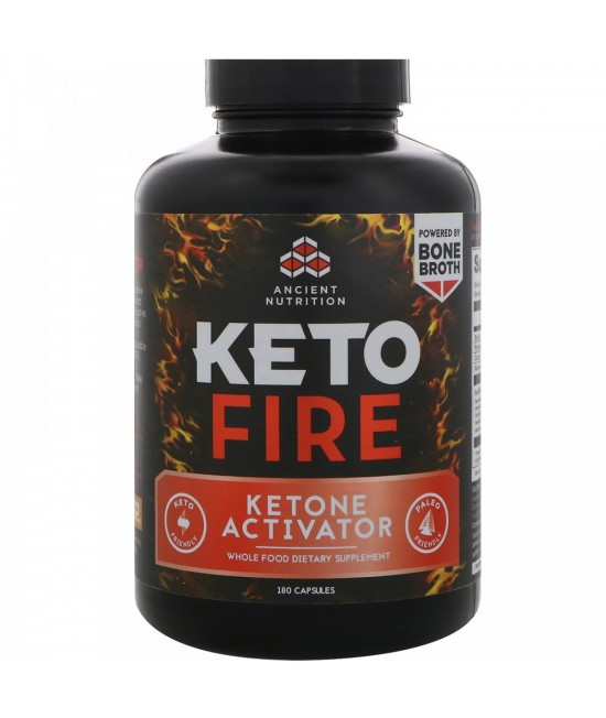 Dr. Axe / Ancient Nutrition, Keto Fire, Ketone Activator, 180 Capsules