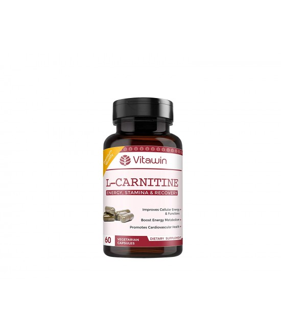 L-Carnitine, 500 mg For Weight loss, Stamina & Recovery, 60 Capsules