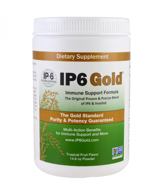 IP-6 International, IP6 Gold, Immune Support Formula, Tropical Fruit Flavor, 14.6 oz Powder
