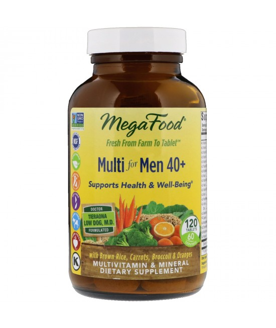 MegaFood, Multi for Men 40 + , 120 Tablets